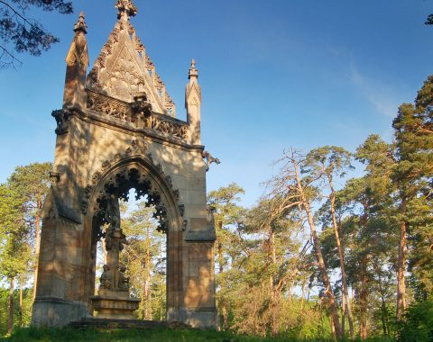 Otevřená kaple sv. Huberta v Bořím lese